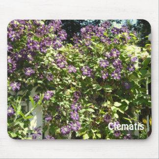 Purple Clematis Garden Mouse Pad