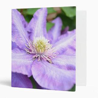 Purple Clematis Macro Binder