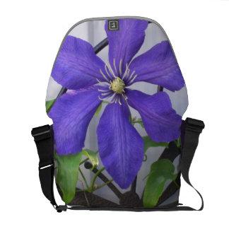 Purple Clematis Messenger Bag