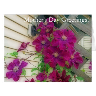 Purple Clematis Mother's Day Card