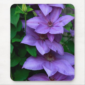 """""""purple clematis"""" mouse pad"""