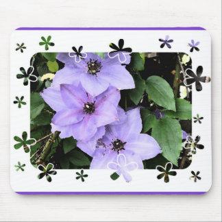 Purple Clematis Mousepad