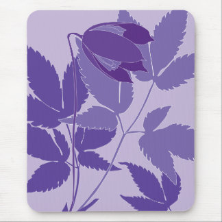 purple clematis mousepads
