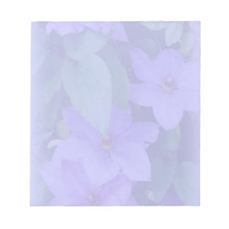Purple Clematis-Muted Floral Memo Note Pads