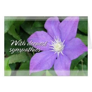 Purple Clematis Sympathy Cards