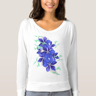 Purple Clematis Vine T-shirt