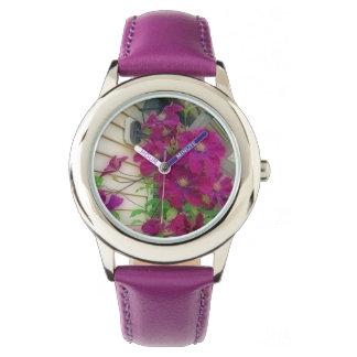 Purple Clematis Wrist Watch