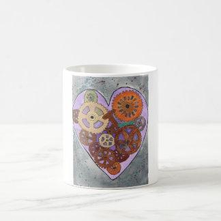 Purple clockwork heart 11 oz Classic White Mug
