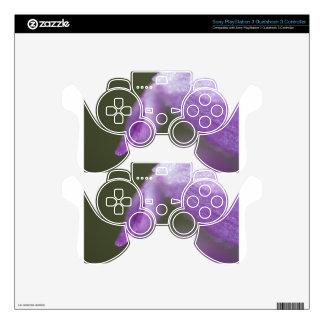 Purple Closeup PS3 Controller Decal