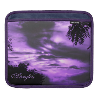 Purple Clouded Sky iPad Sleeve *personalize*