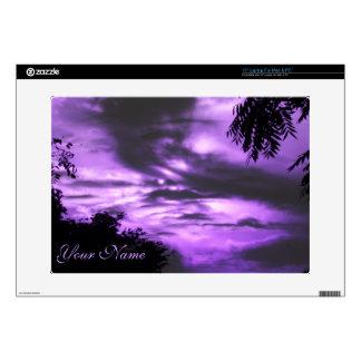 Purple Clouded Sky Laptop Skin