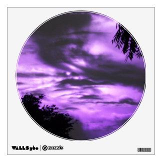 Purple Clouded Sunrise Wall Decal