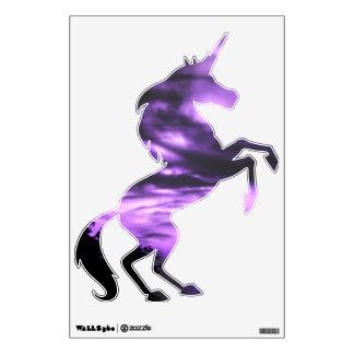 Purple Clouded Unicorn Wall Decal