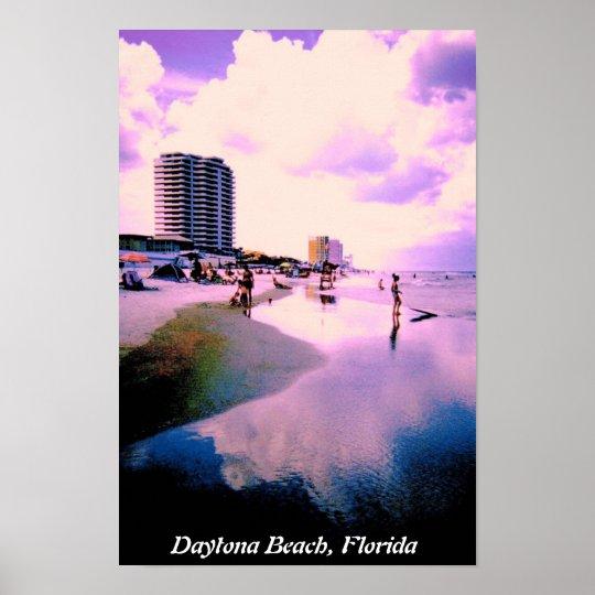 Purple Clouds in Daytona Beach Poster