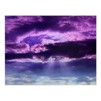 Purple Clouds Post Card