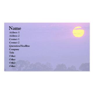 Purple Cloudy Sky Business Card