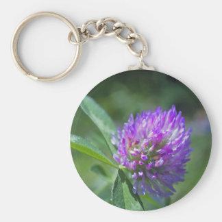 Purple Clover Key Chain