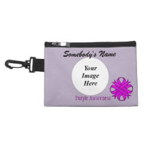 Purple Clover Ribbon Accessory Bag
