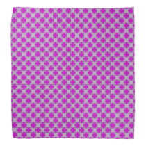 Purple Clover Ribbon Bandana