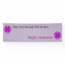 Purple Clover Ribbon Banner