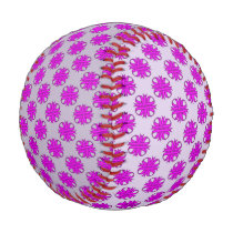 Purple Clover Ribbon Baseball