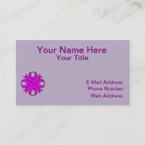 Purple Clover Ribbon Business Card