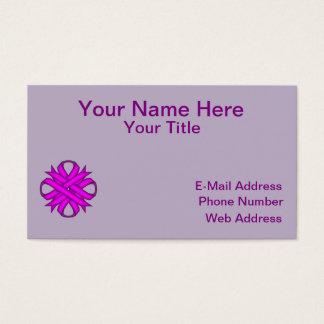 Purple Clover Ribbon Business Card