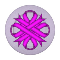 Purple Clover Ribbon Button Covers