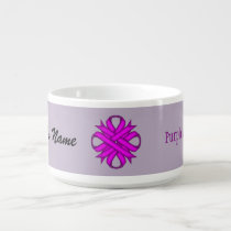 Purple Clover Ribbon by Kenneth Yoncich Bowl