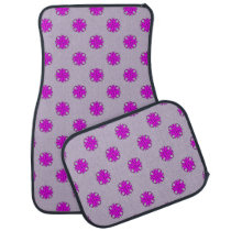 Purple Clover Ribbon by Kenneth Yoncich Car Floor Mat