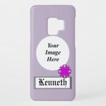 Purple Clover Ribbon by Kenneth Yoncich Case-Mate Samsung Galaxy S9 Case