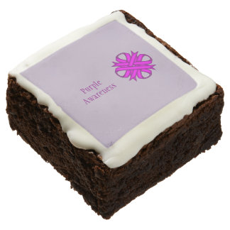 Purple Clover Ribbon by Kenneth Yoncich Chocolate Brownie