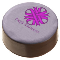 Purple Clover Ribbon by Kenneth Yoncich Chocolate Dipped Oreo