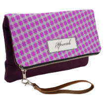 Purple Clover Ribbon by Kenneth Yoncich Clutch