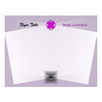 Purple Clover Ribbon by Kenneth Yoncich Flyer