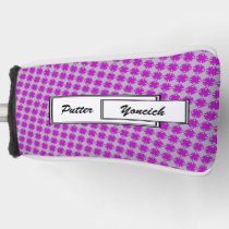 Purple Clover Ribbon by Kenneth Yoncich Golf Head Cover