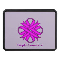 Purple Clover Ribbon by Kenneth Yoncich Hitch Cover