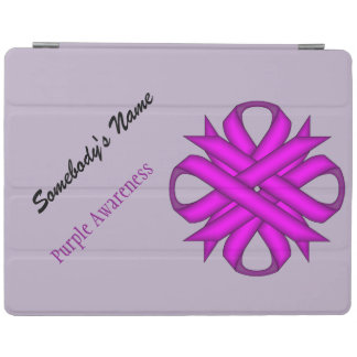 Purple Clover Ribbon by Kenneth Yoncich iPad Smart Cover