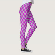 Purple Clover Ribbon by Kenneth Yoncich Leggings