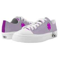 Purple Clover Ribbon by Kenneth Yoncich Low-Top Sneakers