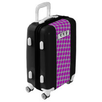 Purple Clover Ribbon by Kenneth Yoncich Luggage