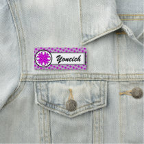 Purple Clover Ribbon by Kenneth Yoncich Name Tag