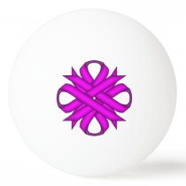 Purple Clover Ribbon by Kenneth Yoncich Ping Pong Ball