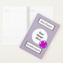 Purple Clover Ribbon by Kenneth Yoncich Planner