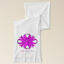 Purple Clover Ribbon by Kenneth Yoncich Scarf
