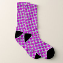 Purple Clover Ribbon by Kenneth Yoncich Socks