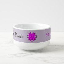 Purple Clover Ribbon by Kenneth Yoncich Soup Mug