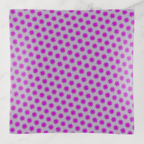 Purple Clover Ribbon by Kenneth Yoncich Trinket Trays
