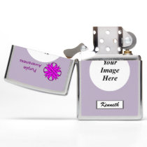 Purple Clover Ribbon by Kenneth Yoncich Zippo Lighter