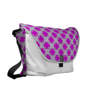 Purple Clover Ribbon Courier Bag